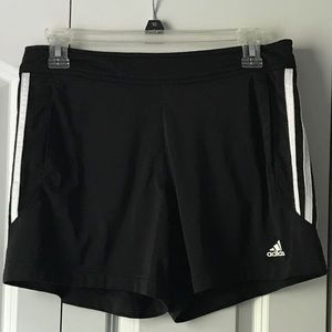 Adidas Black/White Shorts
